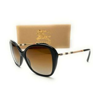 Burberry Women's Black and Brown Sunglasses!